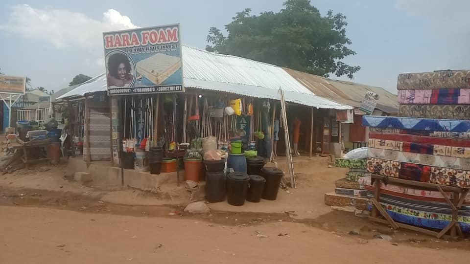 Ms Nwokoro's shop seven months after the attack.