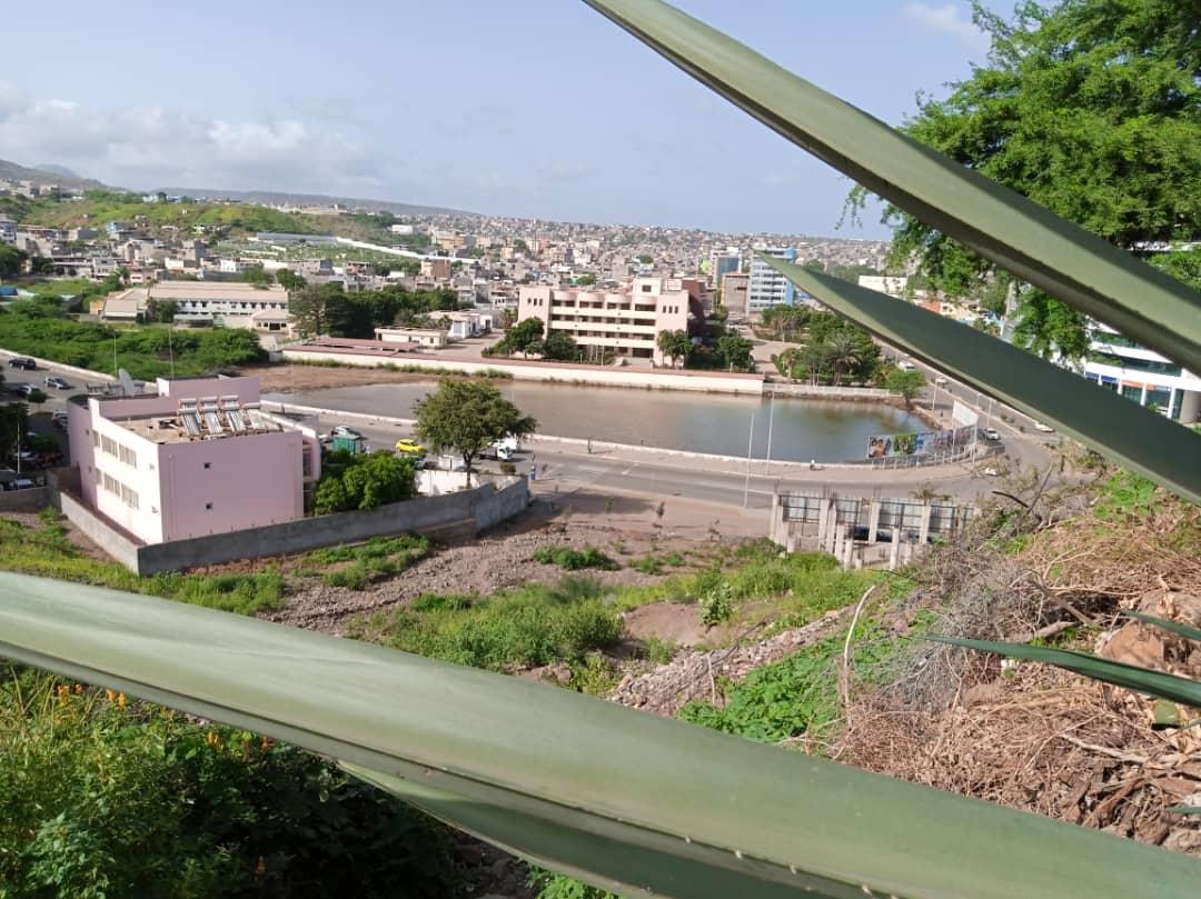 An aerial view of Cape Verde's landscape