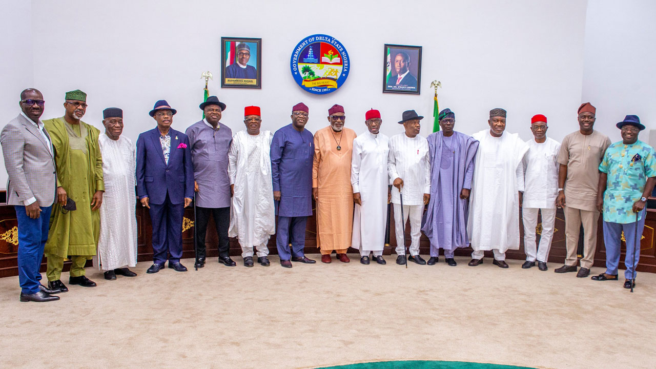 The meeting of Southern governors in Asaba, Delta State