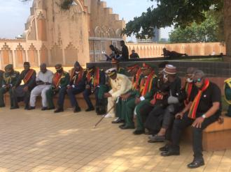 Senior officers have arrived the national mosque ahead of the funeral prayers which was initially slated for 10am.