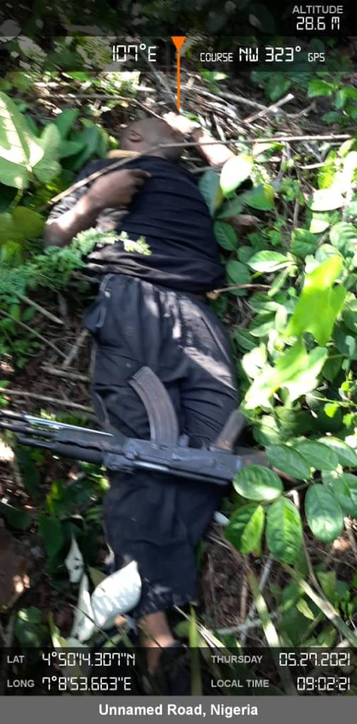 ESN members killed by security agents in Rivers state. [PHOTO CREDIT: Nigerian Army]