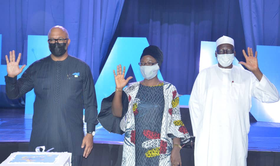 the Director-General of the Nigeria Centre for Disease Control (NCDC) Chikwe Ihekweazu and others at the launch of the campaign on Wednesday