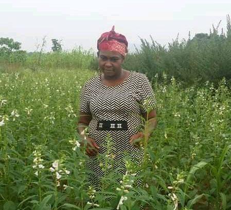 Ms Chijioke on her farm