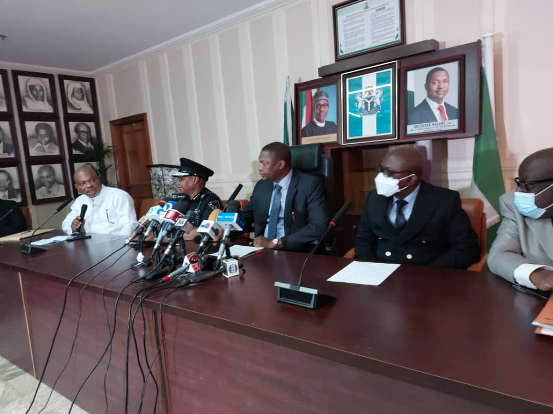 A joint press briefing on Tuesday with the State Security Service (SSS) in Abuja