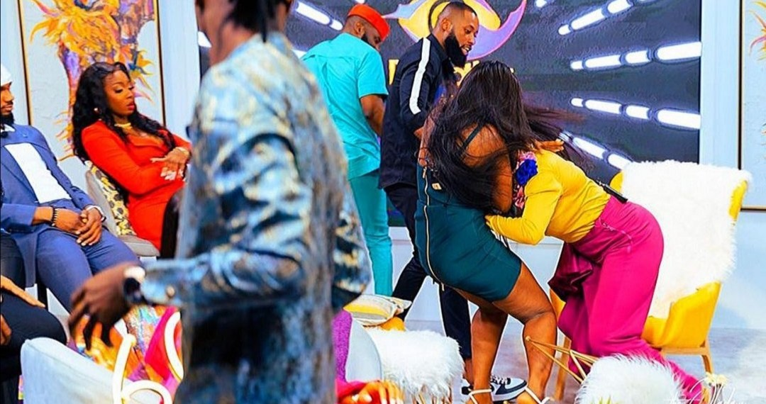 BBNaija Reunion: Lucy, Kaisha exchange blows on live tv