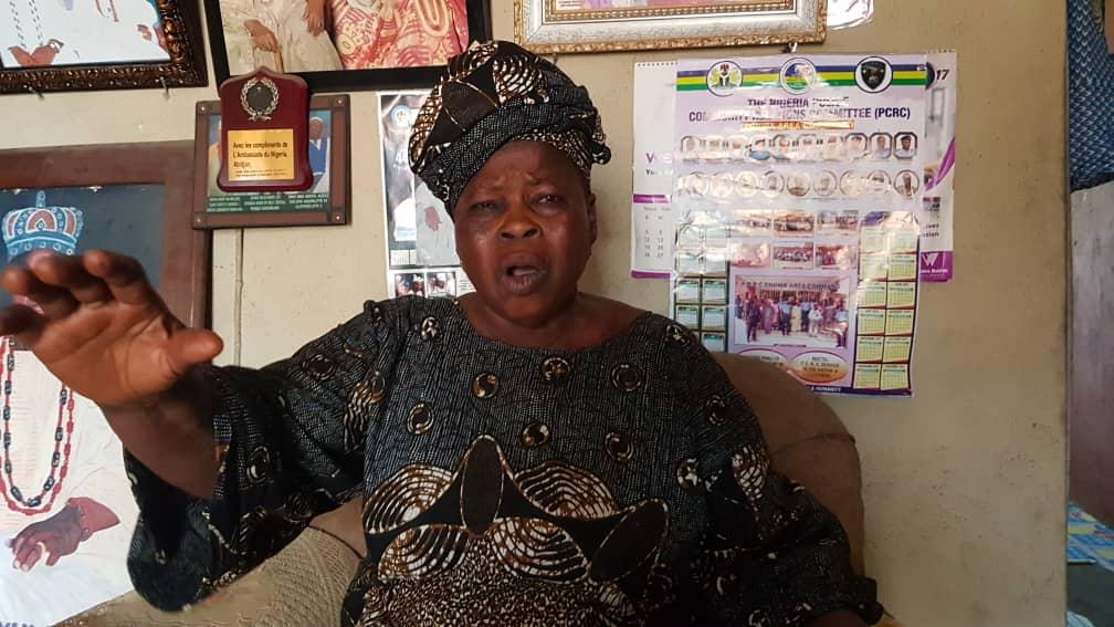 Alhaja Sinat Adeoye, wife of Igangan monarch crying while narrating community travails