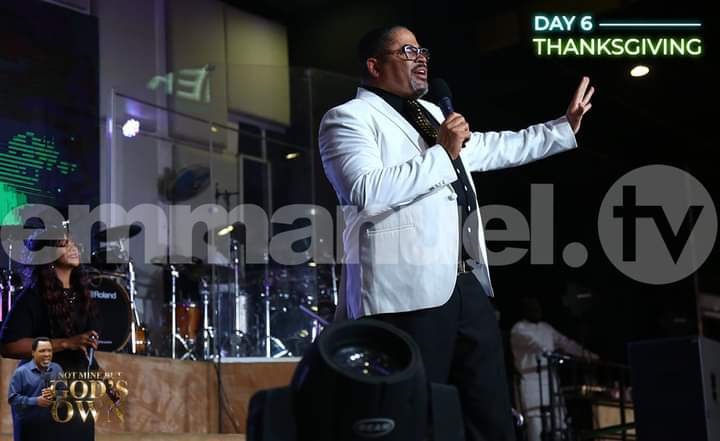 Byron Cage[Photo credit: T.B Joshua ministries Facebook page]