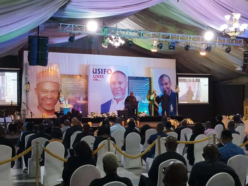 Late Mr Ataga's song of service