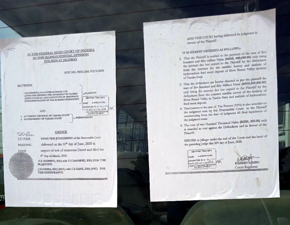 Company seizes 15 Taraba state government vehicles over judgment debt