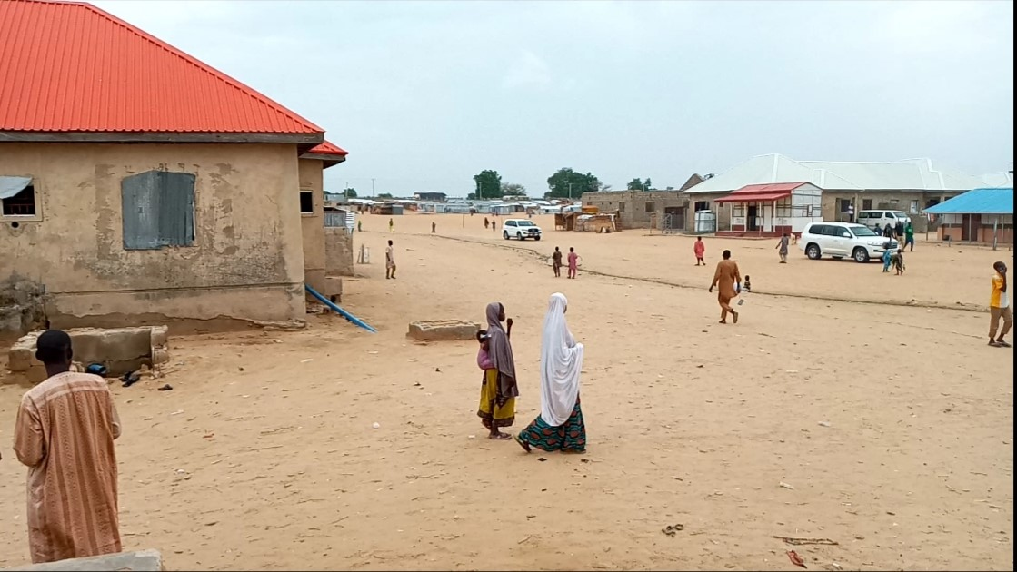 This is Dalori IDPs camp 2 in Kofa, Konduga Local government area. The camp which houses over 16,000 households was officially opened in 2014.