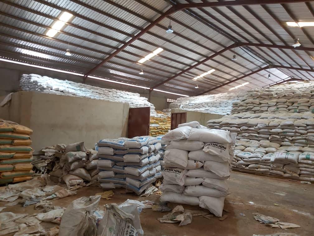 Warehouse of Matrix NPK fertiliser