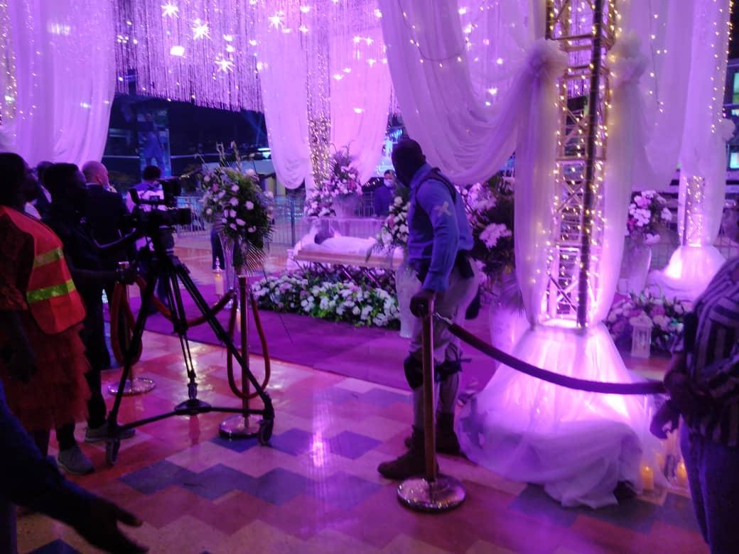 T.B Joshua body arrives Synagogue Church in Lagos.