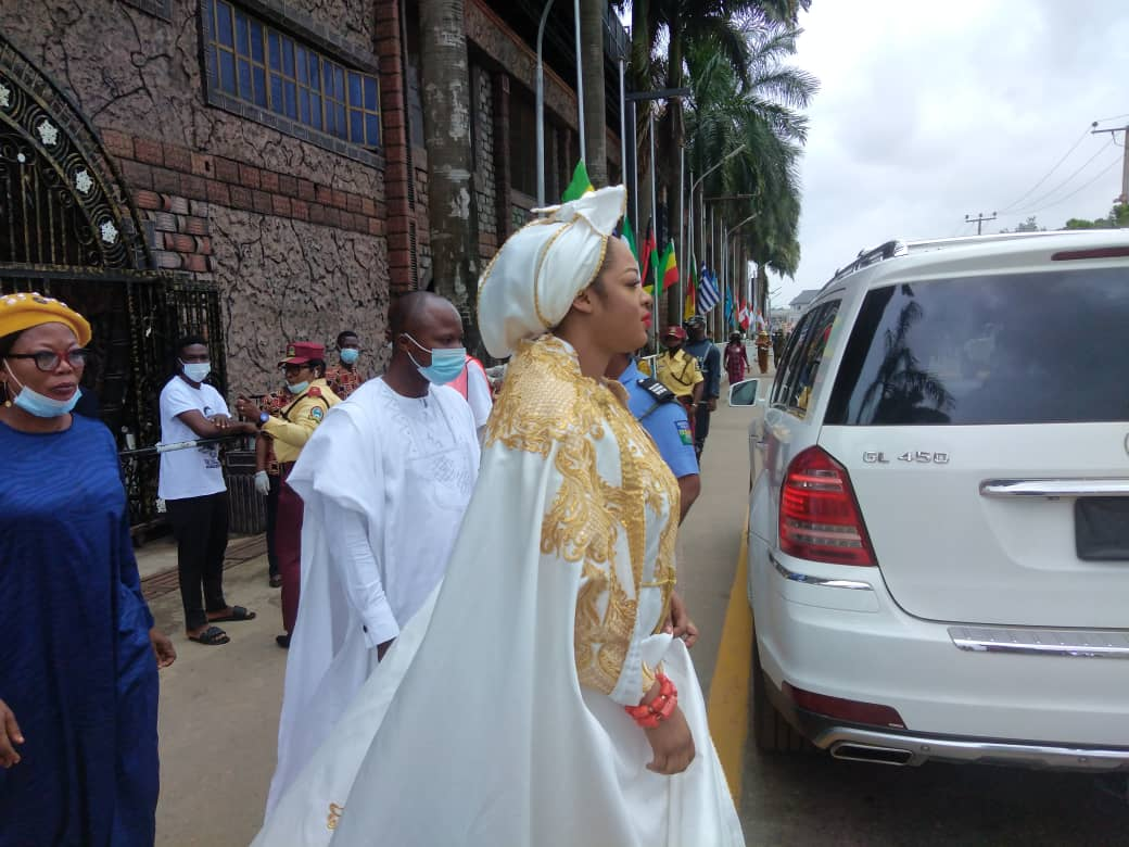 Olori Sekunola, wife of Ooni of Ife also in attendance at T.B Joshua's burial ceremony