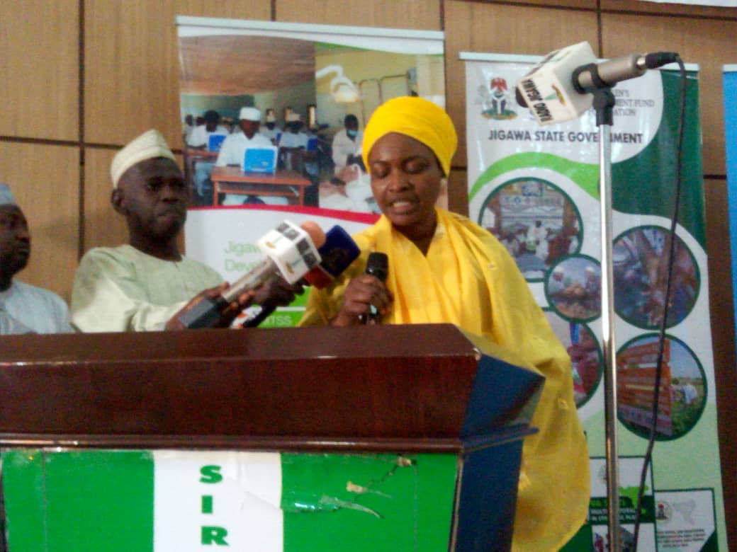 Ms Philomena Irene, UNICEF Nutrition Specialist delivered speech at the lunching of Jigawa Nutrition policy in 2019.