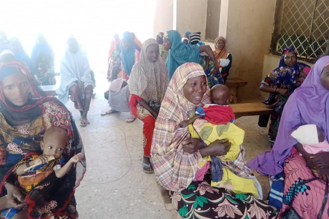 Children waiting for treatment at a treatment centre in Ringim LGA.