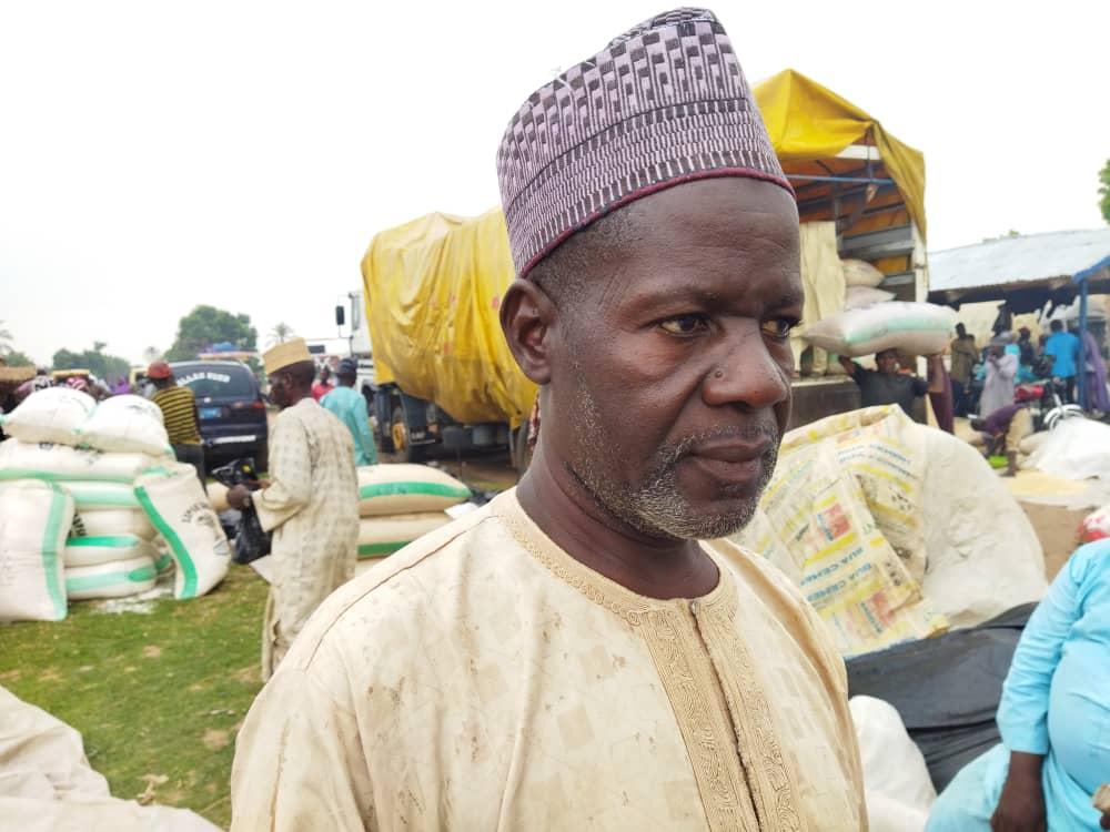 Muhammadu Adamu, the chairperson of, grain dealers association at Suwarin market in Kiyawa local government area of Jigawa State