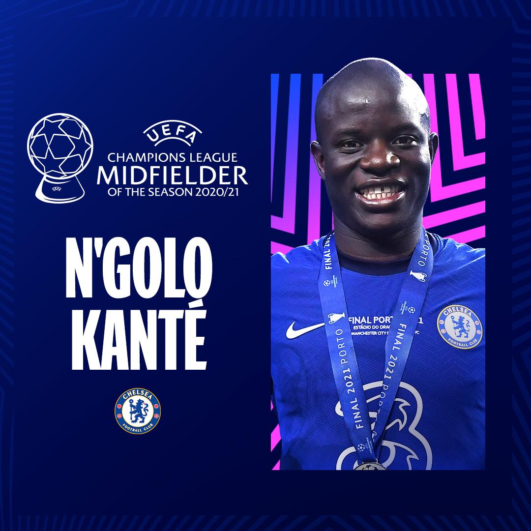 N'golo Kante, Midfielder of the season