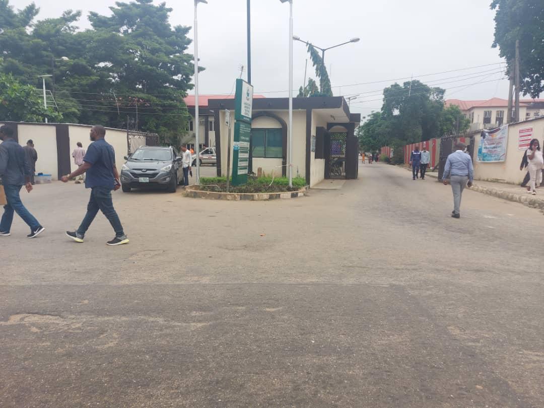 Entrance of the Lagos State University Teaching Hospital, LASUTH Lagos