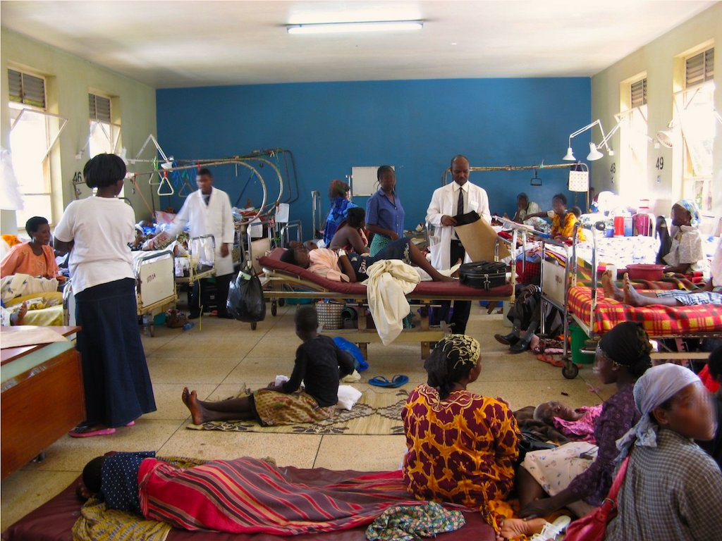 Nigeria's poor state of healthcare.