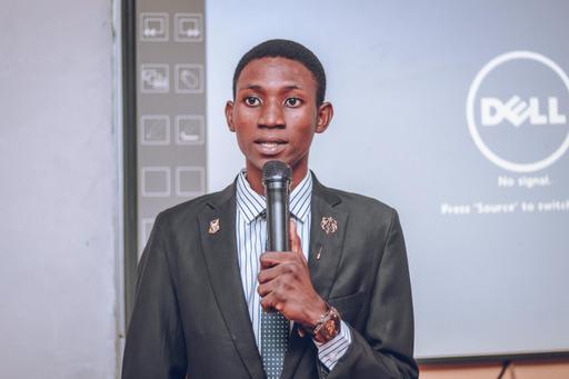 Otito-Jesu Ayeni, the president of the University of Ibadan Literary and Debating Society, speaking at the press briefing