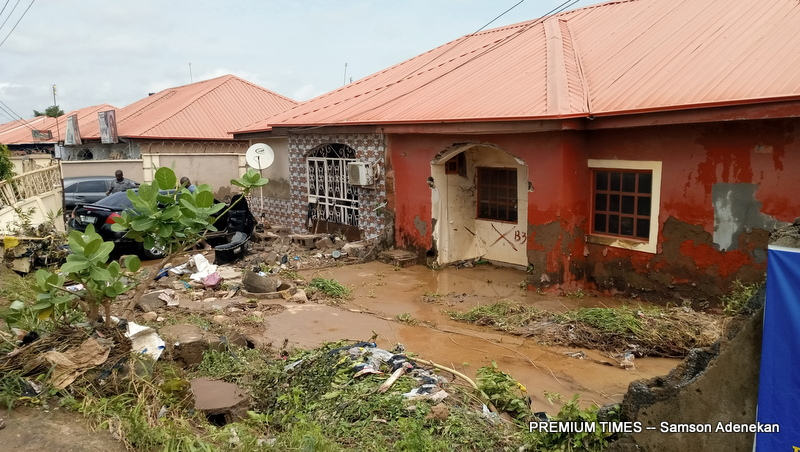 Another house defaced by the flood impact