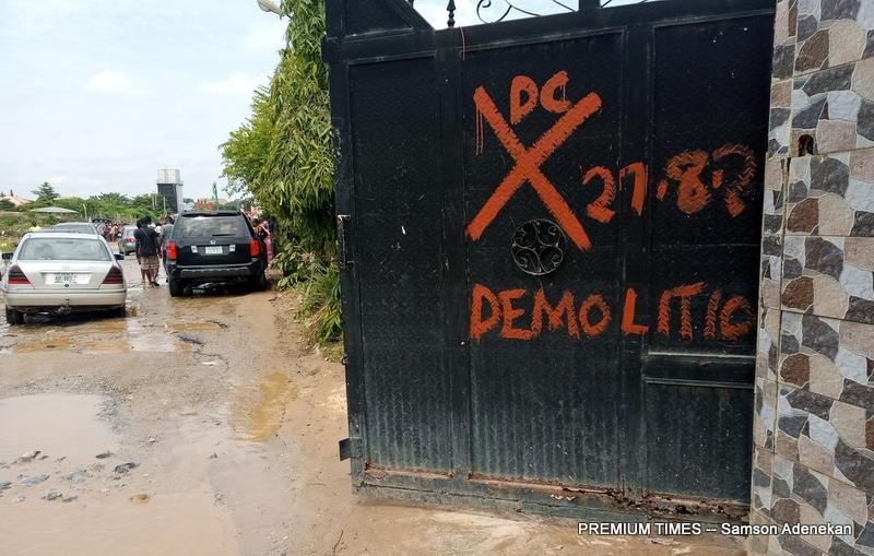 House marked for demolition after the 2020 similar flood incident