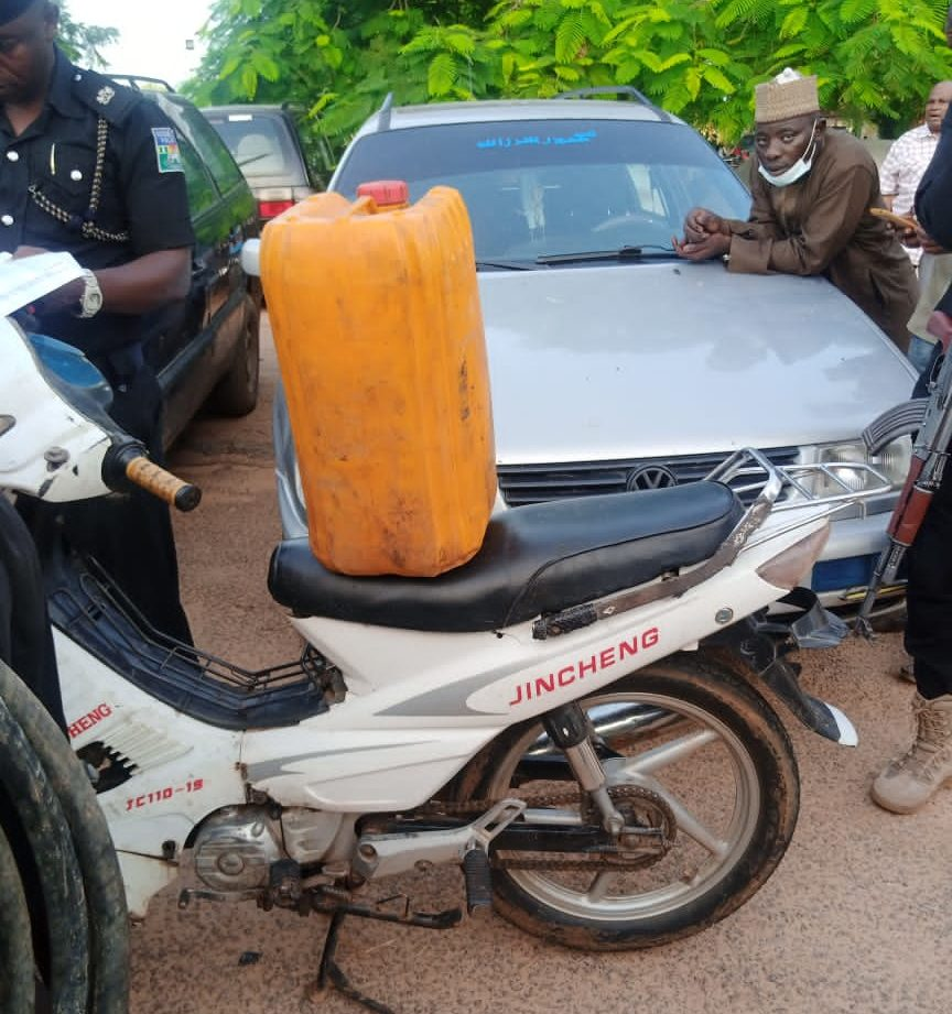The suspects paraded by the police in Katsina