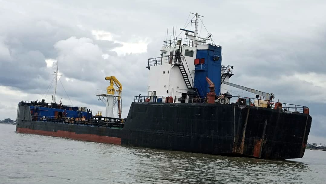 An Oil Barge
