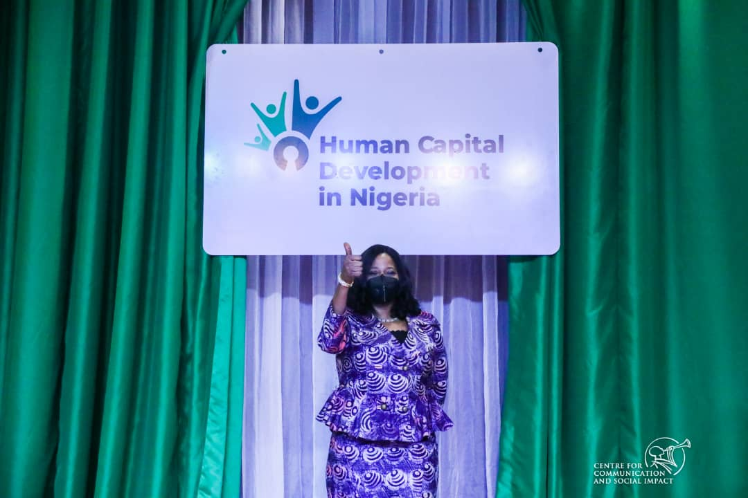 Mrs Yosola Akinbi while presenting