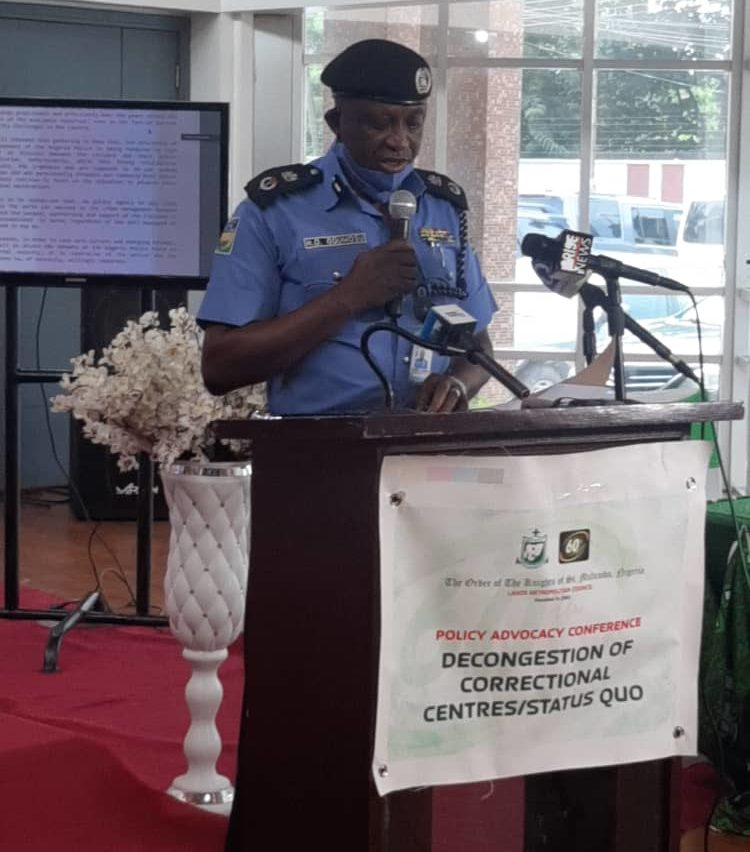 Lagos State Commissioner of Police, Hakeem Odumosu, during his address at the conference on decongestion of Correctional Centres.