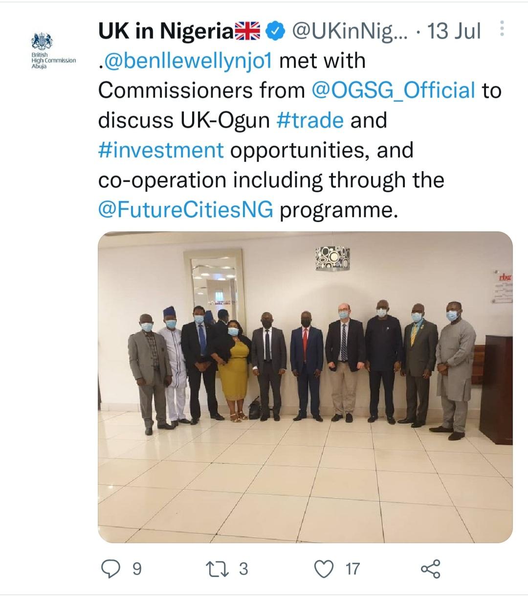 UK partnership with Ogun State