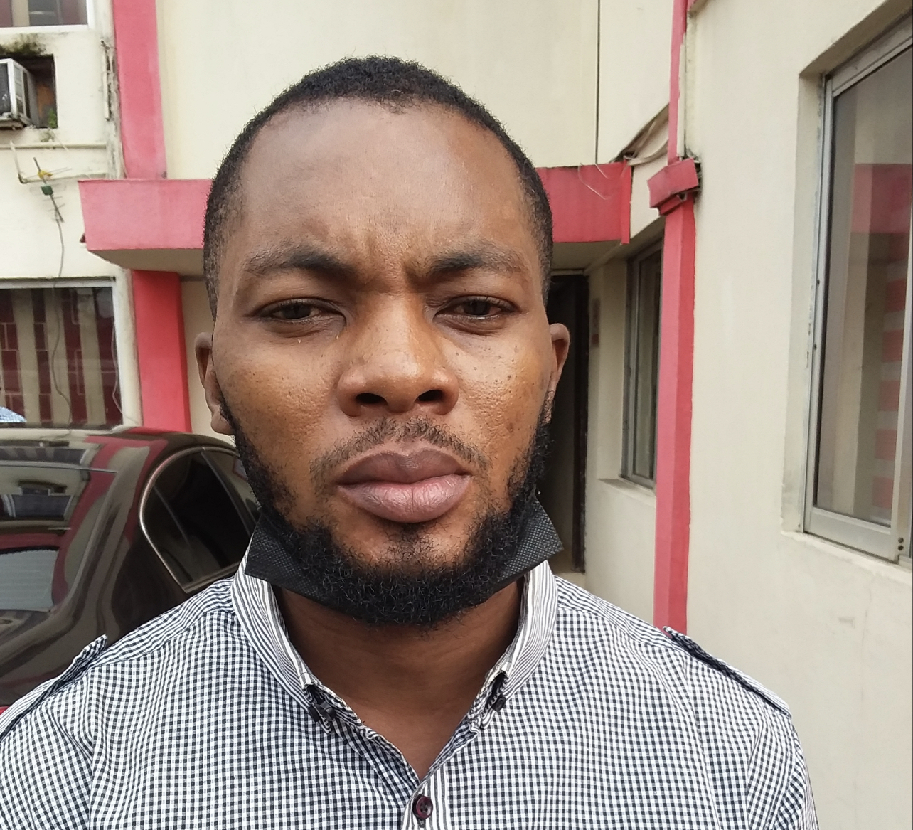 One of the suspected Internet fraudsters