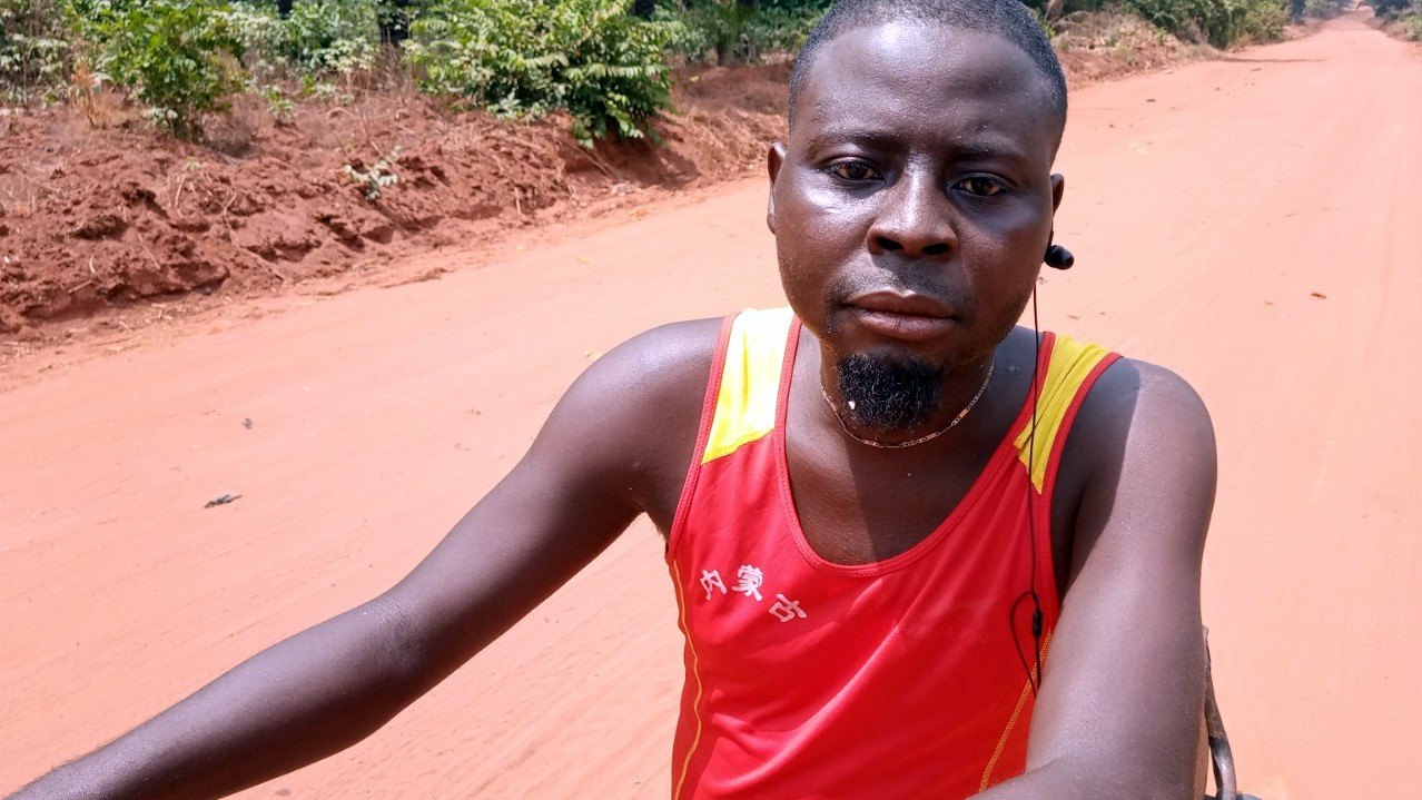 It's not all woes for Ali Christian. The bad condition of the road means that he makes more money in his Okada business