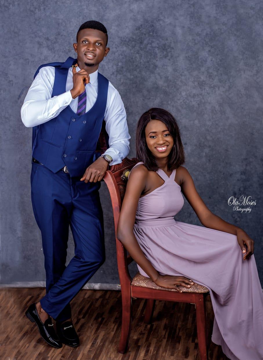 Oluwakemi Adelakun, a Premium Times reporter, and her man, Damilare Olaoti