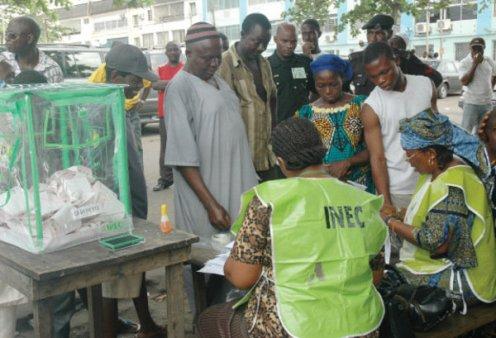 INEC staff on duty
