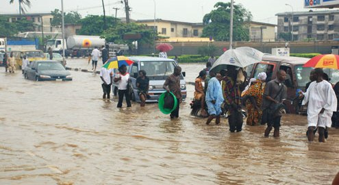Lagos flooding caused as a result of changes in climate