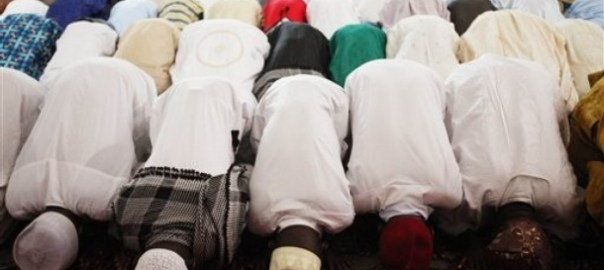 Nigerian muslims at prayer