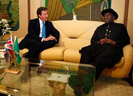 Prime Minister David Cameron and President Goodluck Jonathan