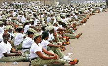FILE PHOTO: Corp members in camp