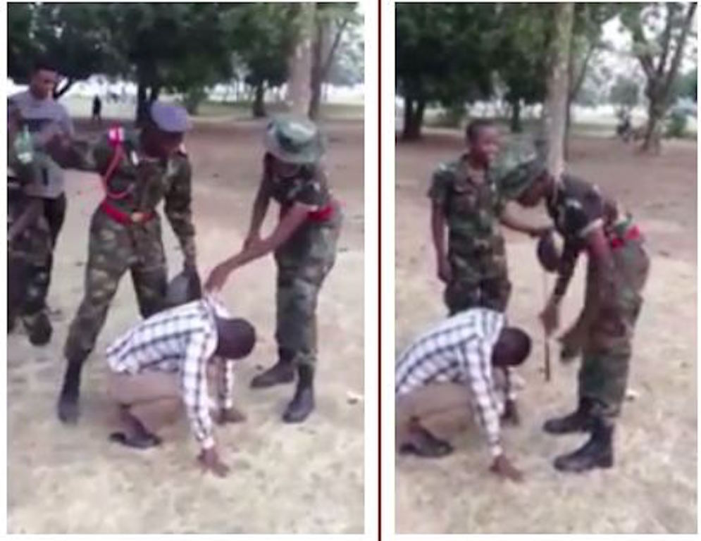 Nigerian military cadets