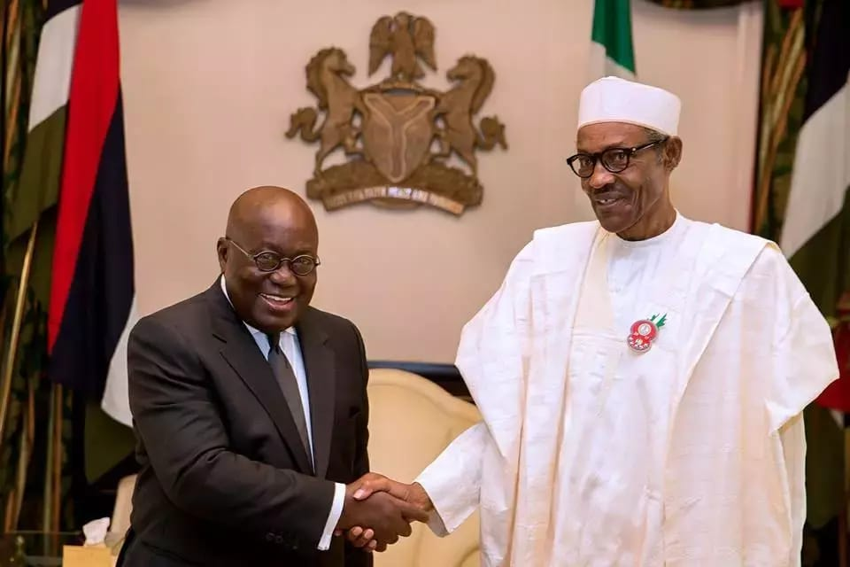 Buhari and Nana Akufo-Addo
