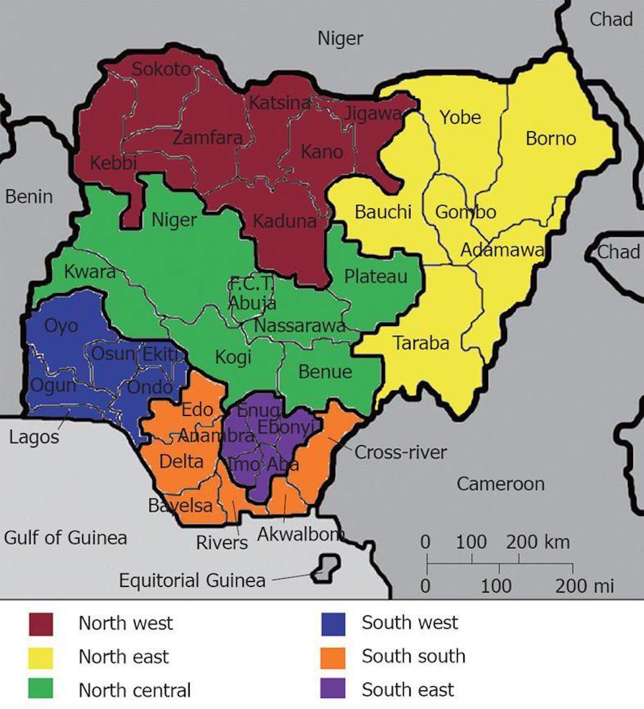 Six-geopolitical-zones-of-Nigeria