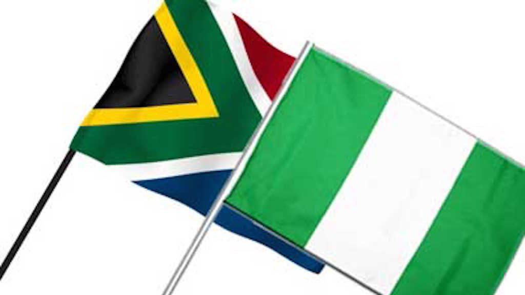 South Africa and Nigeria Flags