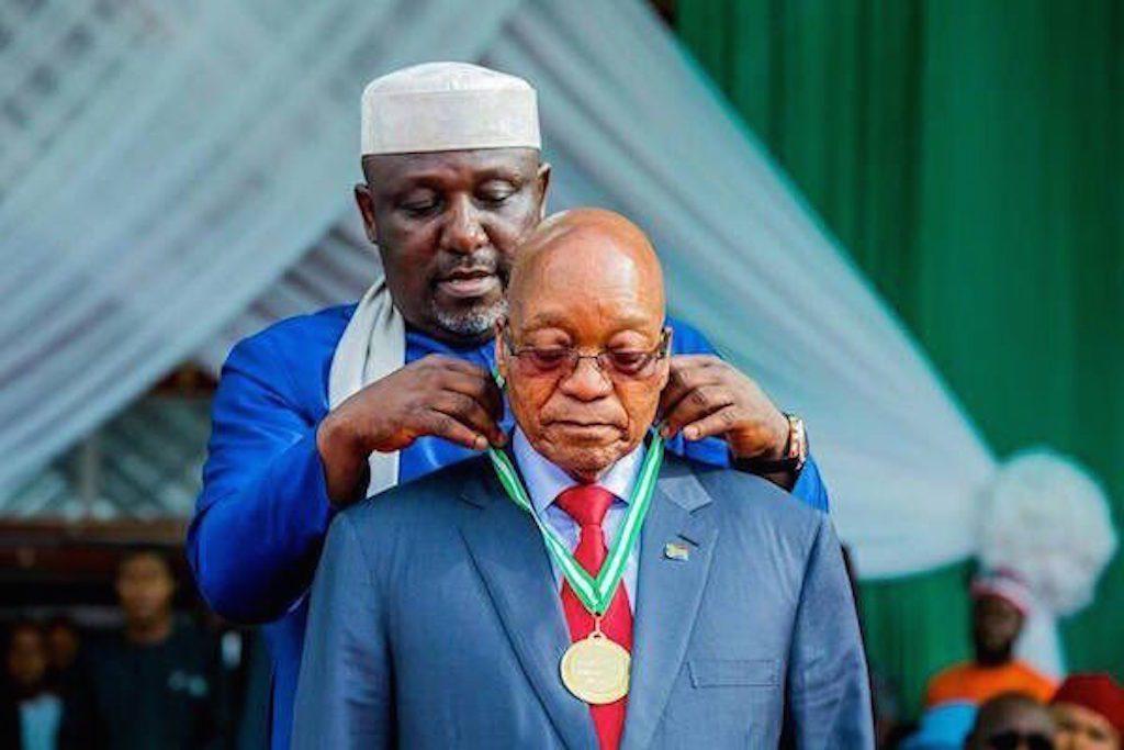 Rochas Okorocha and Jacob Zuma