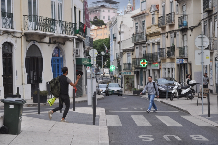 street in Alcântara lisbon