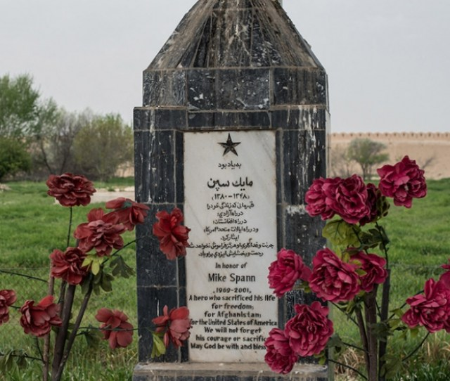 Memorial To Mike Spann At The Qala I Jangi Fortress