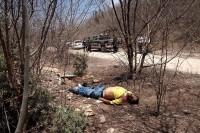 Un taxista asesinado en Sinaloa, el día de ayer. Foto: Juan Carlos Cruz
