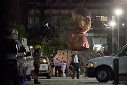 Explosión en la Torre de Pemex; 37 muertos y más de 100 heridos. Foto: Eduardo Miranda