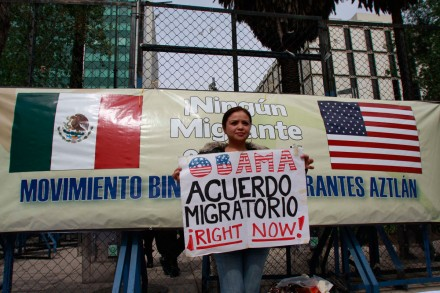 Exigen a Obama respetar a los migrantes. Foto: Hugo Cruz