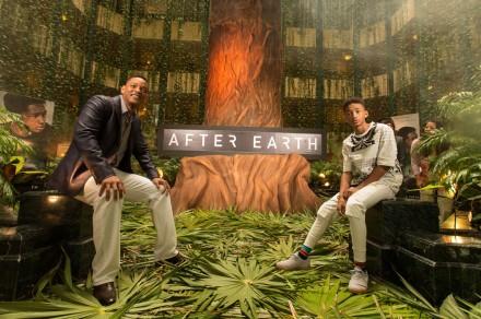"""Will y Jaden Smith sobre sobre ramas de """"Palma Chit"""". Foto: fadedyouthblog.com"""